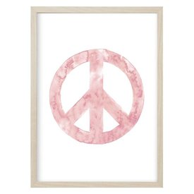 "Kruth Design Poster ""PEACE"" Rosa von Kruth Design"