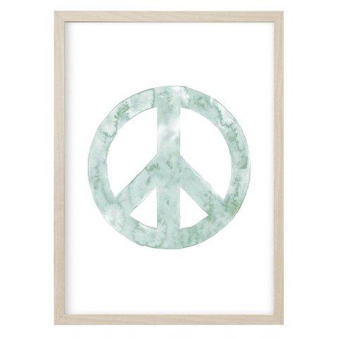 """Poster """"PEACE"""" Mint von Kruth Design"""