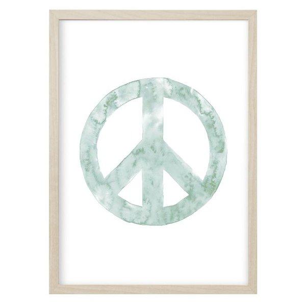 """Kruth Design Poster """"PEACE"""" Mint von Kruth Design"""