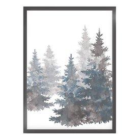 """Kruth Design Poster """"GREY TREES"""" von Kruth Design"""