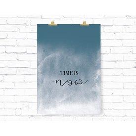 """Kruth Design Poster """"TIME IS NOW"""" von Kruth Design"""