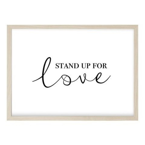 "Poster ""STAND UP QUER"" von Kruth Design"