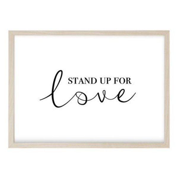 "Kruth Design Poster ""STAND UP QUER"" von Kruth Design"