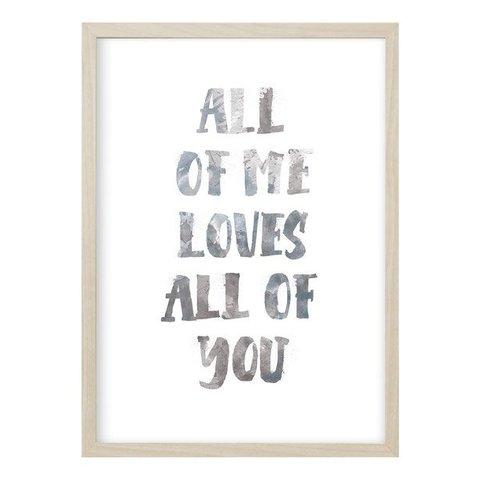 """Poster """"ALL OF ME"""" von Kruth Design"""