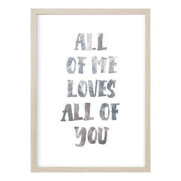 """Kruth Design Poster """"ALL OF ME"""" von Kruth Design"""