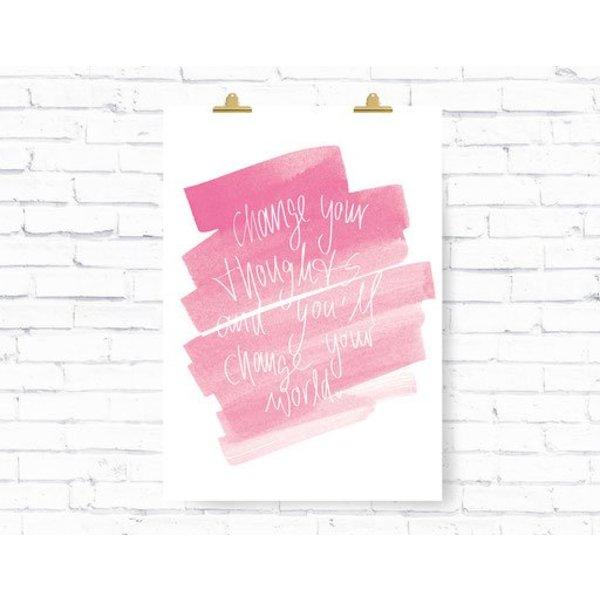 """Kruth Design Poster """"THOUGHTS"""" von Kruth Design"""