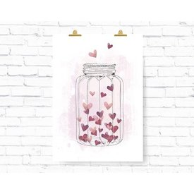 """Kruth Design Poster """"HEARTGLASS"""" von Kruth Design"""