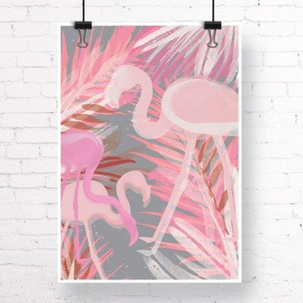 """Kruth Design Poster """"FLAMINGO"""" von Kruth Design"""