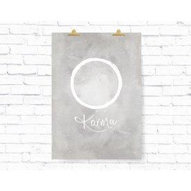 """Kruth Design Poster """"KARMA KREIS"""" von Kruth Design"""