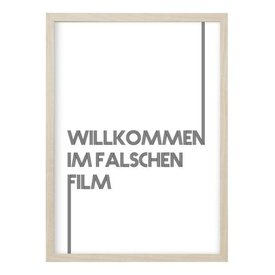"Kruth Design Poster ""FALSCHER FILM"" von Kruth Design"