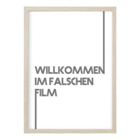 """Poster """"FALSCHER FILM"""" von Kruth Design"""