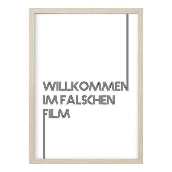 """Kruth Design Poster """"FALSCHER FILM"""" von Kruth Design"""