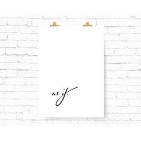 """Kruth Design Poster """"AS IF"""" von Kruth Design"""
