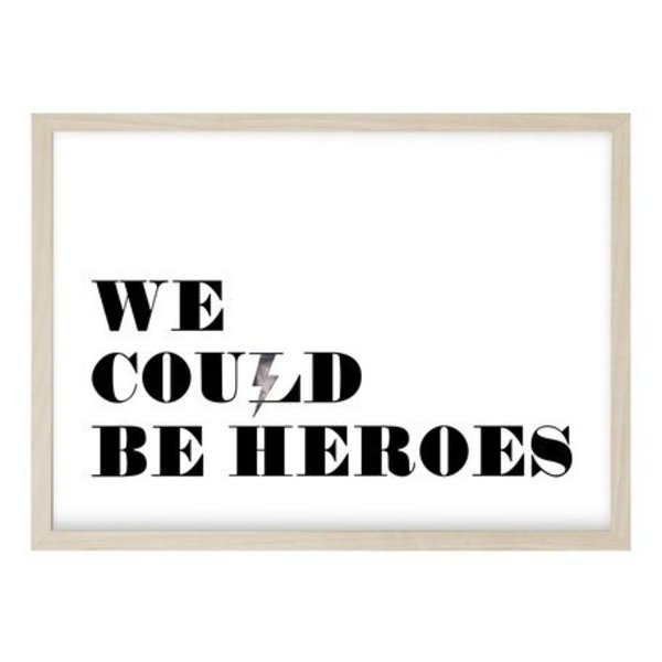 "Kruth Design Poster ""HEROES"" von Kruth Design"