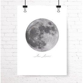 """Kruth Design Poster """"LA LUNE"""" von Kruth Design"""