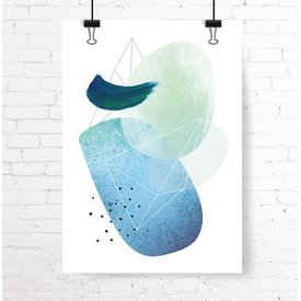 """Kruth Design Poster """"ABSTRACT NO. 2"""" von Kruth Design"""