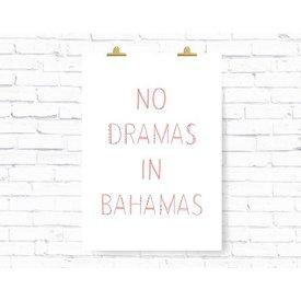 """Kruth Design Poster """"BAHAMAS"""" von Kruth Design"""