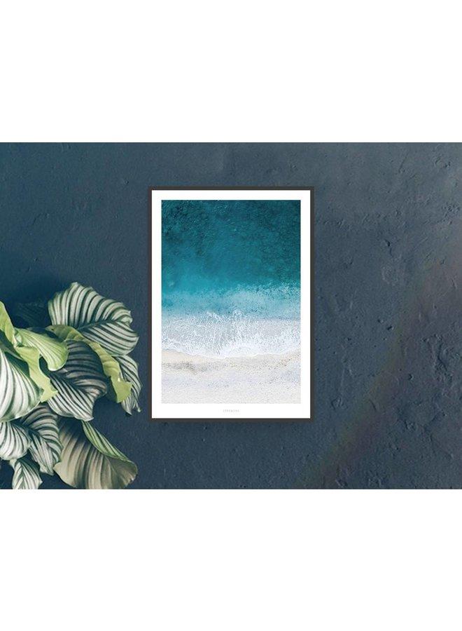 """Poster """"Above The Beach No. 1"""" von typealive"""