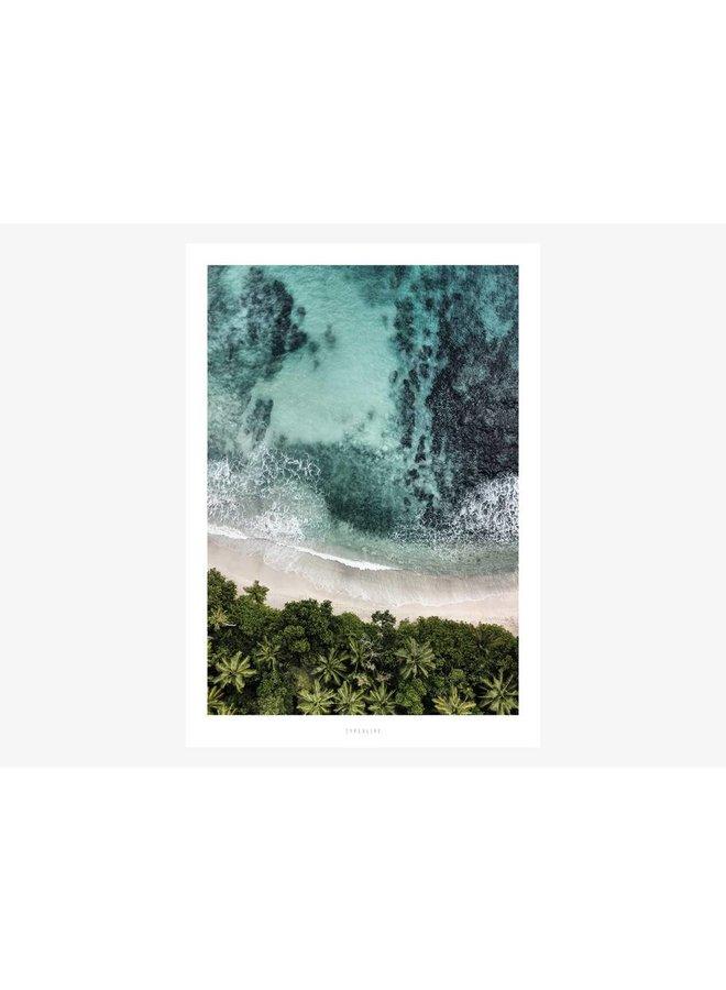 """Poster """"Above The Beach No. 3"""" von typealive"""