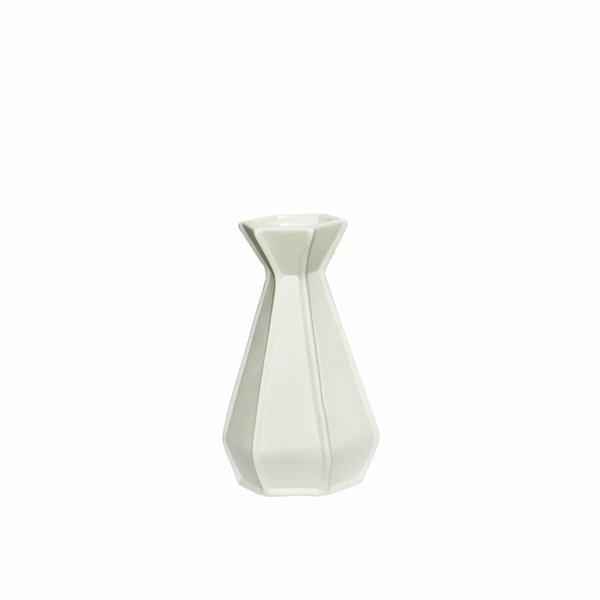 Hübsch Interior Weiße Keramikvase von Hübsch Interior