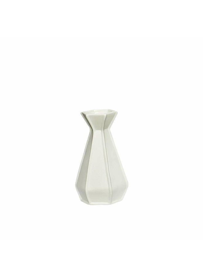 Weiße Keramikvase von Hübsch Interior