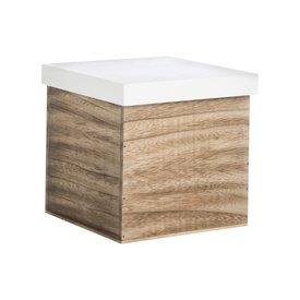 Madam Stoltz Aufbewahrungsbox Holz/Weiß L von Madam Stoltz