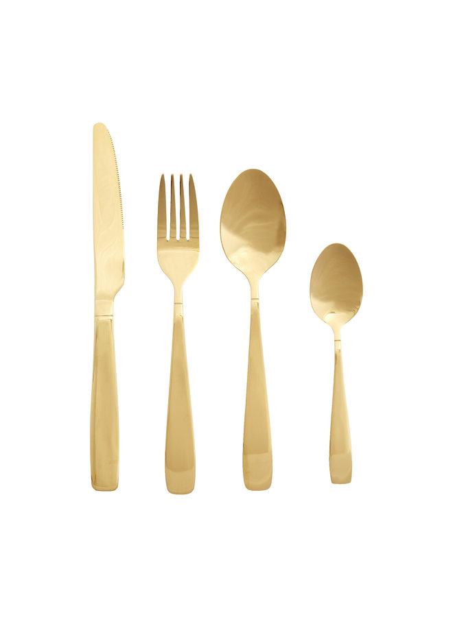 """Besteckset """"Gold"""" (16er) von Hübsch Interior"""