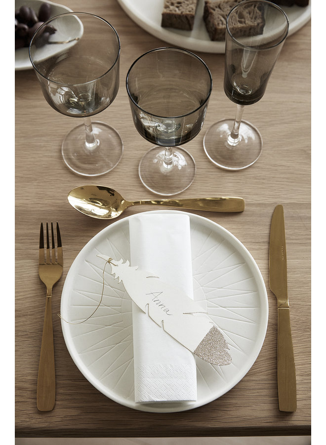 """Weißweinglas """"Grau"""" von Hübsch Interior"""