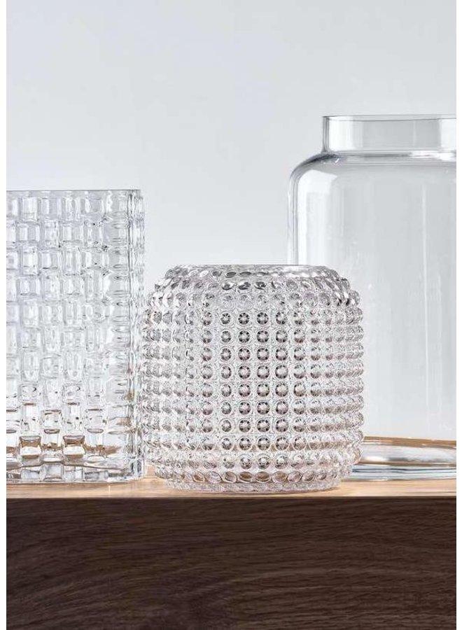 """Vase """"Pattern"""" aus Glas von Villa Collection"""