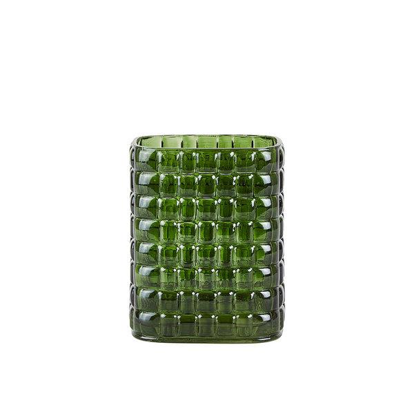 """Villa Collection Denmark Vase """"Pattern"""" aus Glas in Grün  von Villa Collection"""