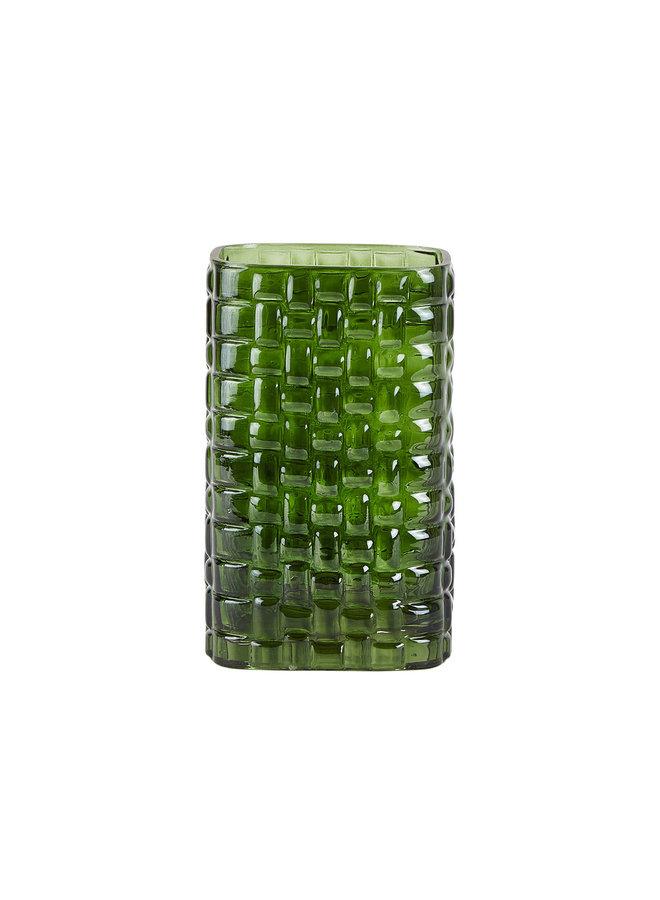 """Vase """"Pattern"""" aus Glas in Grün  von Villa Collection"""