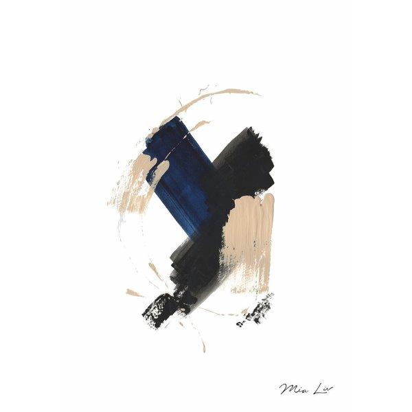 "Print ""True Blue II"" von Mia Liv"