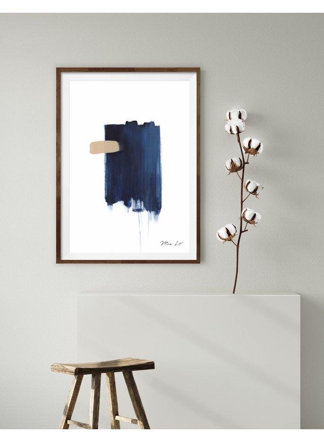 """Print """"True Blue I"""" von Mia Liv"""