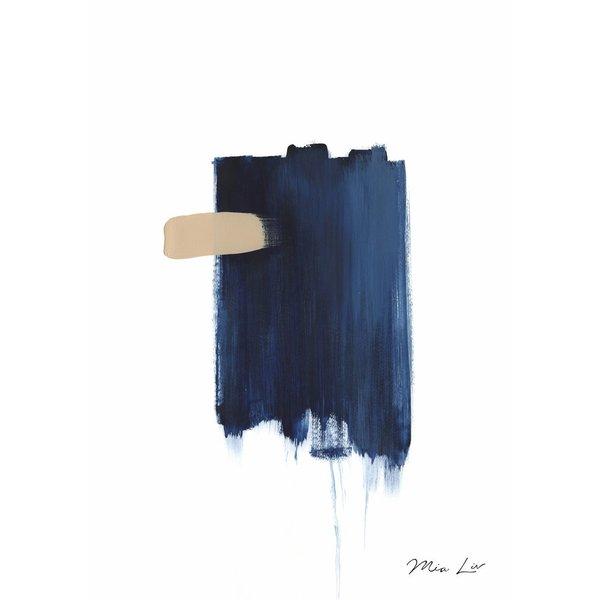 """Mia Liv Print """"True Blue I"""" von Mia Liv"""