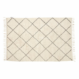 Hübsch Interior Baumwollteppich in weiß/grau von Hübsch Interior
