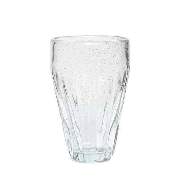 Hübsch Interior Trinkglas mit Rillen von Hübsch Interior