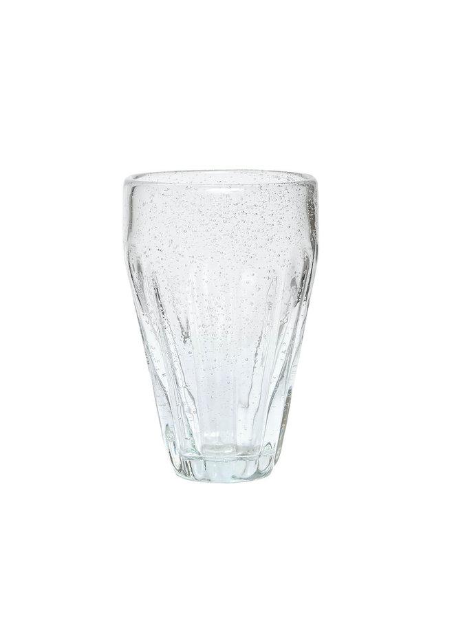 Trinkglas mit Rillen von Hübsch Interior