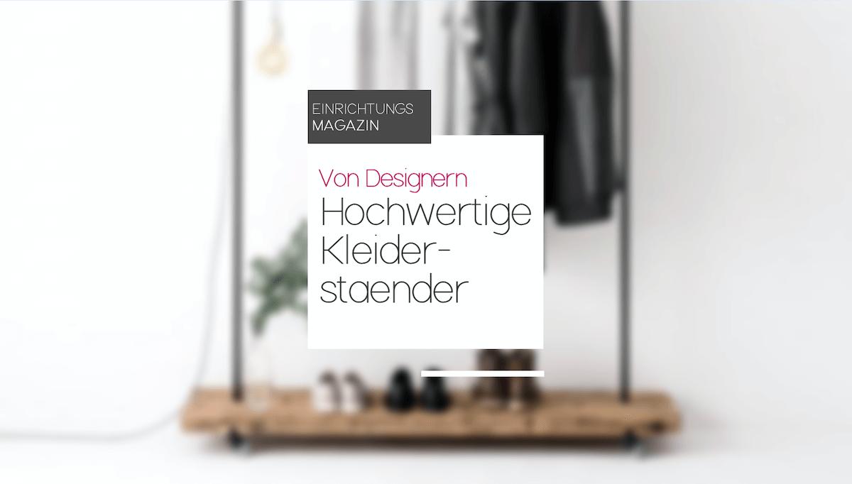 Hochwertige Kleiderständer von Designern