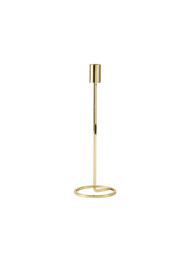 """Kerzenhalter """"Metall 29cm"""" in Gold von Villa Collection"""