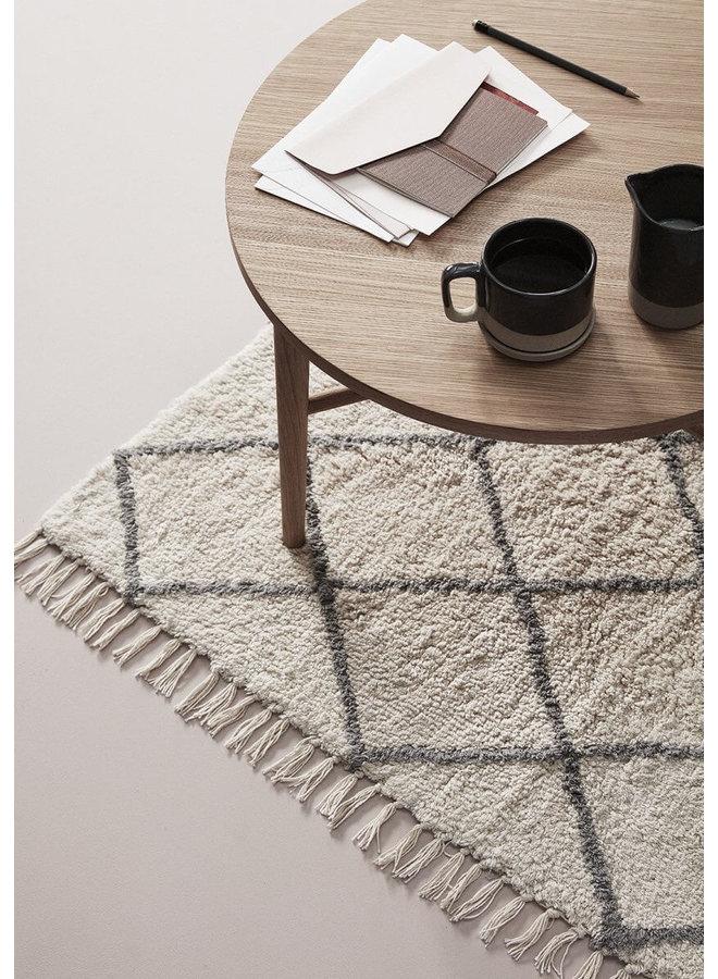 Baumwollteppich in weiß/grau von Hübsch Interior