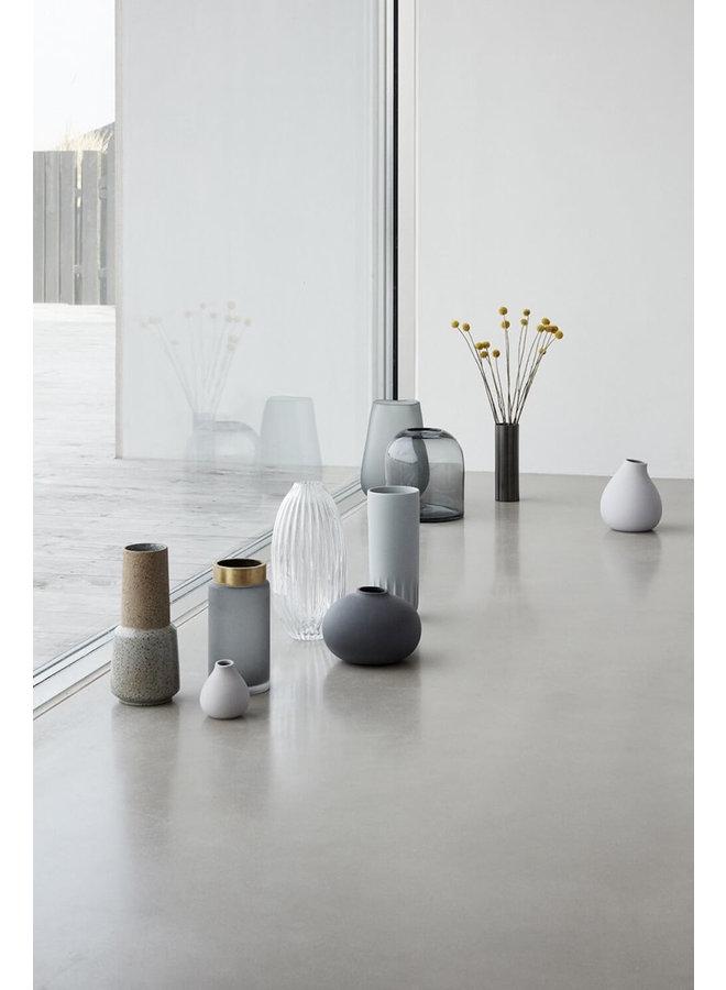 Dunkelgraue Keramikvasen (2er Set) von Hübsch Interior