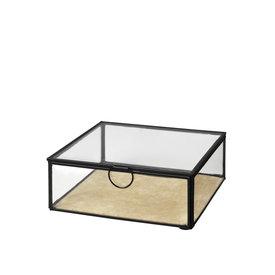 """Broste Copenhagen Aufbewahrungsbox """"JANNI"""" aus Messing & Glas"""