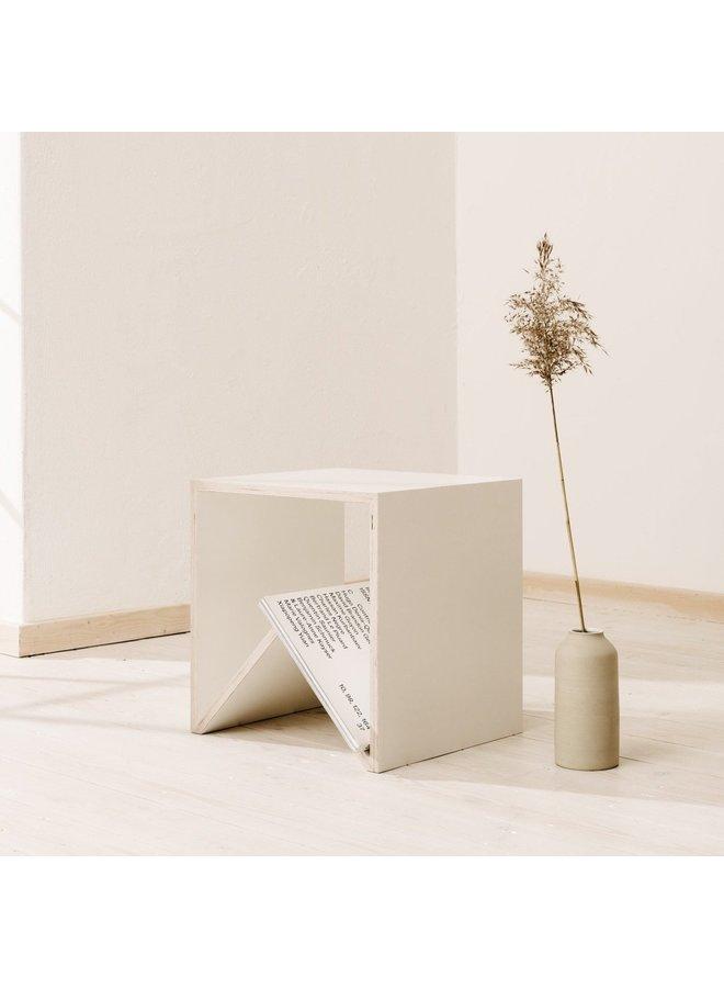 """Design-Beistelltisch """"Carius & Bactus"""" Weiß/Birke von MÜLLERNKONTOR"""