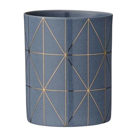 Teelichthalter Grau/Gold von Bloomingville