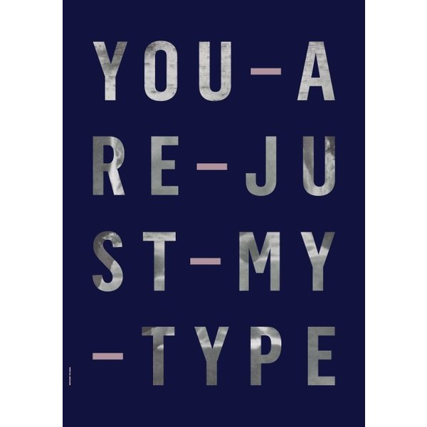 "I LOVE MY TYPE Poster ""Just my Type, Navi"" von I LOVE MY TYPE"