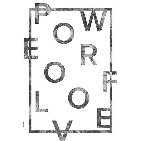 """Poster """"Power of Love, White"""" von I LOVE MY TYPE"""