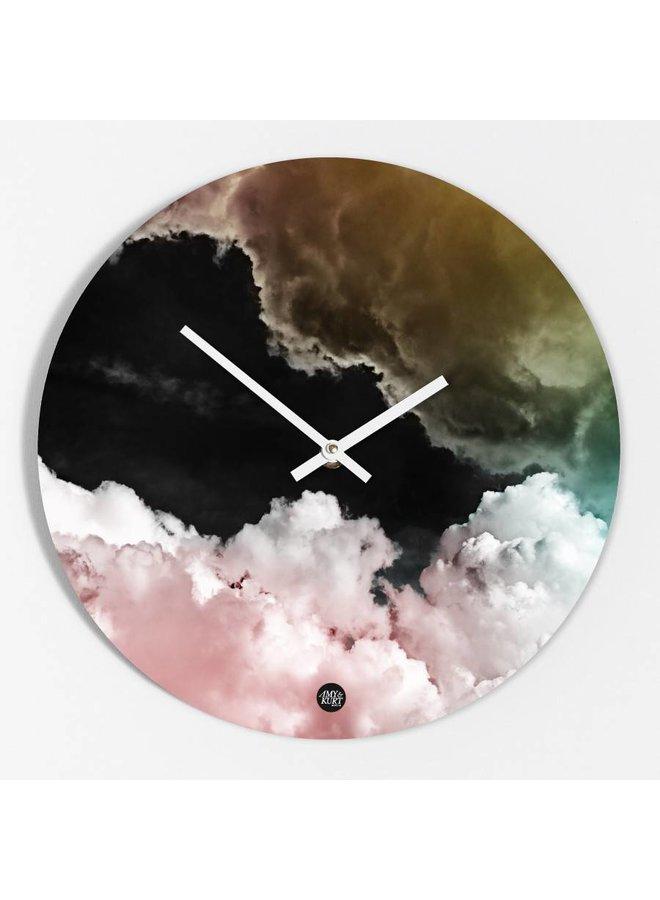 """Wanduhr """"Rosa Wolken"""" von Amy & Kurt"""