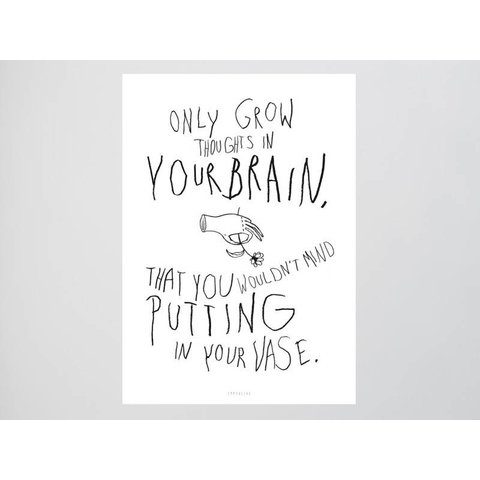 """Postkarte """"Brainflowers"""" von typealive"""