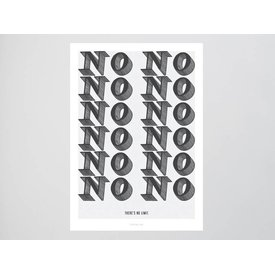 "typealive Postkarte ""No Limit"" von typealive"