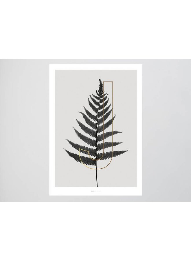 "Poster ""ABC Plants - J"" von typealive"